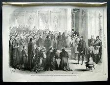 1870:Scene Concilio di ROME.IL PAPA Riceve Autorita Ecclesiali Francesi.Cm 33x24