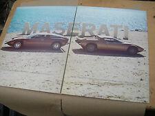 Maserati BORA MERAK BROCHURE THE WIND & THE STAR RARE
