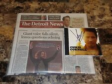Chris Cornell Signed Retrospective CD Soundgarden Audioslave Detroit News Paper