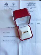 CARTIER TANK Diamond RING 0.25ct. DIAMOND 18ct GOLD Ring original receipt
