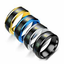 Temperature Titanium Steel Emotion Intelligent Sensitive Ring Couple Waterproof