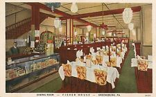 Dining Room at Fisher House in Greensburg PA Postcard