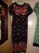 Loungees Black & Pink Sz Small Muu Muu Moo Moo House Dress Lounge Wear Hostess