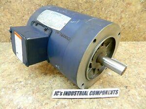 Leeson electric motor  145TC  1 hp  3 ph   208-230/460 volts  1740 rpm