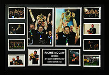 ALL BLACKS RICHIE MCCAW 2011 & 2015 RWC WINNER SIGNED LIMITED FRAMED MEMORABILIA