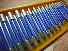 30 tlg. THK Diamant Fräser Set 4mm - 6mm zylindrisch Schleifstift Fliesen Modell