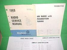 1969 CAMARO CHEVELLE SS EL CAMINO 442 FIREBIRD GTO DELCO AM RADIO SERVICE MANUAL