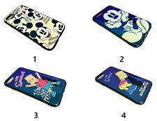 Lindo Dibujos animados Mickey Mouse Funda azul metálico acabado de espejo Apple iPhone