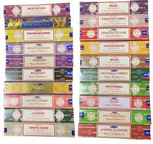 Bulk Buy 3 /12 Pack Box 15g Satya Nag Champa Incense Joss Insence Sticks Insense