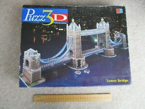 London Tower Bridge, a 3D jigsaw puzzle by MB. Used, complete, see description