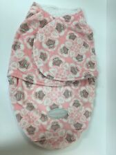 Blankets & Beyond Lovely Decorated Owl Printed Swaddle Pink (T179)