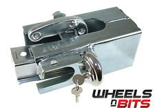 HEAVY DUTY Caravan Hitch Coupling Security Box Lock Steel Safe Cover Tow Towing