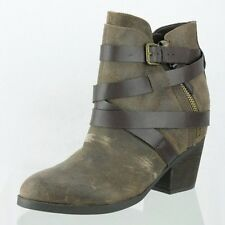 Women's Steve Madden Paiva Brown Leather Upper Ankle Boots Shoes Size 12 M NEW