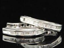 Diamante Stretto Orecchini Donna 10K Oro Bianco Baguette Taglio Cerchi 0.25 TCW