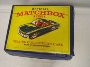 Official Matchbox Deluxe Collector Case Holds 72 w/ 16 Cars incl ertl A-team JS
