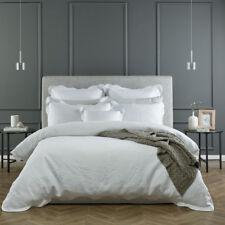 BIANCA Elegance Capri White King Bed Size Duvet Doona Quilt Cover Set Rrp229.95