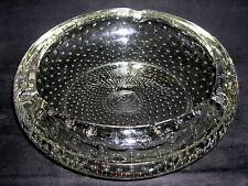 XXL Murano Glas Schale Aschenbecher mit Luftblasen 60er / 70er Jahre Ø 21cm  3Kg