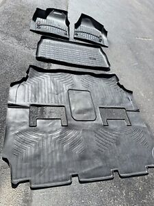 Set of Front Rear & Cargo Weathertech Floor Liners Chrysler Pacifica 2017 & Up