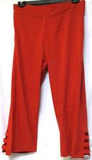 plus sz XL / 24 TS TAKING SHAPE Orient Crop Pants pomegranate stretch comfy NWT!