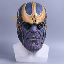 Cosplay Avengers Infinity War Thanos Mask Full head Latex Halloween Mask Adult