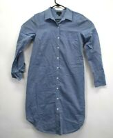 Who What Wear Women's Size Small Denim Jean Look 100% Cotton Button Up Dress