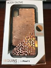Body Glove Shimmer Reversible Sequins Phone Case for iPhone X  Rose Gold / Black