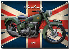 A3 SIZE SUNBEAM S8 MOTORCYCLE METAL SIGN.VINTAGE BRITISH MOTORCYCLE.