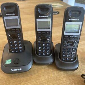 Panasonic Cordless Phones Set Of 3 With Speaker KX-TG2511E