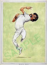 Framed caricature of Kapil Dev by John Ireland