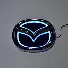 LED 5d Blue Logo Badge Emblem Light for Mazda 3 5 6 cx-7 10.1х7.9cm 4x3.1in