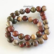 10mm Round Red Creek Jasper Gemstone Beads 15-Inch Strand New Arrivals