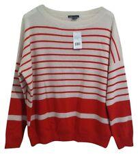 Vince Womens Orange Cream Cashmere Sweater Large New
