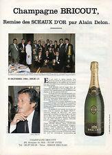 Publicité Advertising 1986  CHAMPAGNE BRICOUT remise des SCEAUX D'OR