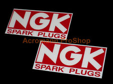 "2x 6"" 15.2cm NGK plugs spark decal sticker drift D1 sponsor track car bike vinyl"