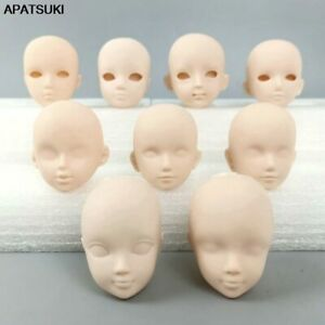 """Soft Plastic Practice Makeup DIY Doll Head For 11.5"""" Doll Heads For 1/6 BJD Doll"""