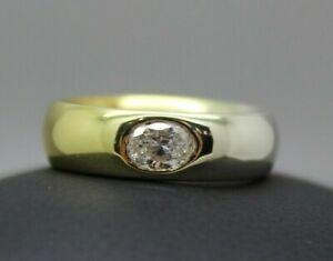 Niessing Ring 750 Weißgold - Gold mit 0,50ct Diamant Oval Brillant Gr. 58