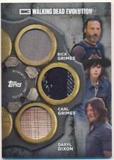 Topps Walking Dead Evolution Triple Relic Card TR-RCD Rick/Carl/Daryl 13/25