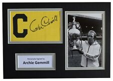 More details for archie gemmill signed captains armband a4 photo display derby county football