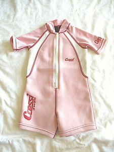 Cressi Swim VN339 Toddler Girl Pink Short Wetsuit Size Small EUC Barely Worn