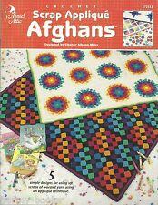 Scrap Applique Afghans Eleanor Albano-Miles Crochet Annie's Attic Patterns NEW
