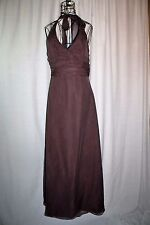 Alexia II Chocolate Brown Prom Formal Halter Dress Gown Size 12