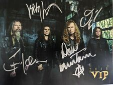 More details for megadeth signed dystopia vip meet and greet 2015 photo