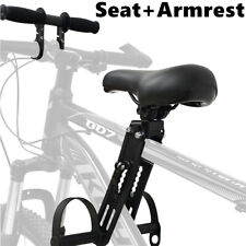 Adjustable Child Front-Mounted Bicycle Seat Mountain Bike Kids Seat + Armrest