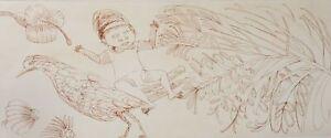 Charles BLACKMAN Boy, Bird and Bottlebrush original signed Australian fine art