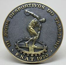 SPORTS/ Nude/ DISCUS THROW/ FNAT INATEL 1970 3rd WORK SPORTS GAMES Bronze Medal