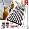 "10.5"" Reusable Stainless Steel Drinking Straws Metal for 30Oz Yeti Rtic Tumbler"