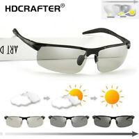 Men's Aluminum Photochromic Polarized Sunglasses Outdoor Driving UV400 Glasses