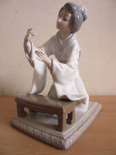 "Lladro, Spain ""Oriental Girl"" figurine Geisha girl decorating flowers (missing)"