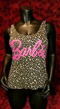 SMALL Barbie Leopard Print Tank Top Punk Rock Retro Doll