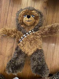 "Chewbacca Wookiee Build A Bear Star Wars Plush Stuffed BAB Stuffed Animal 18"""